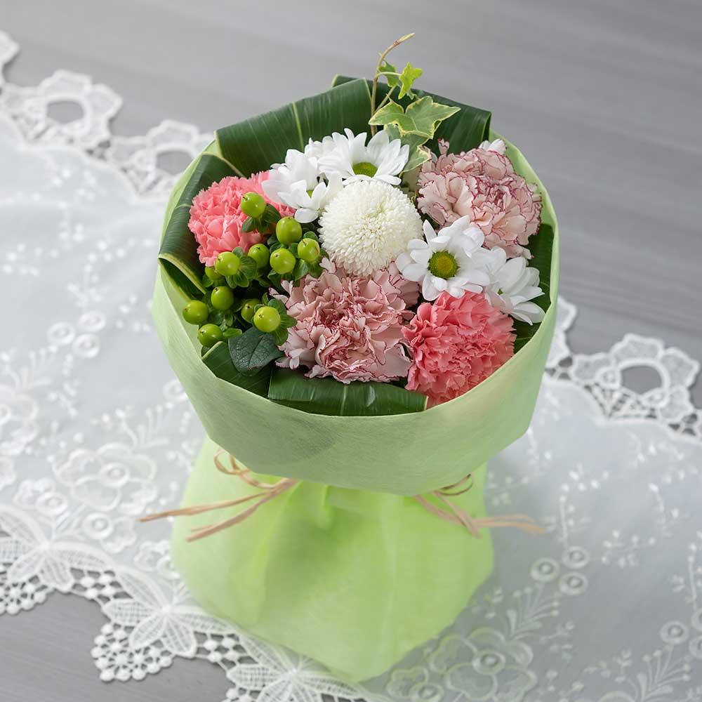 EX花束「優美花(そのまま飾れるお悔み花束)桜色重ね」