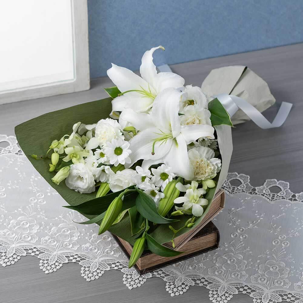 花束「懐旧の情(白)」