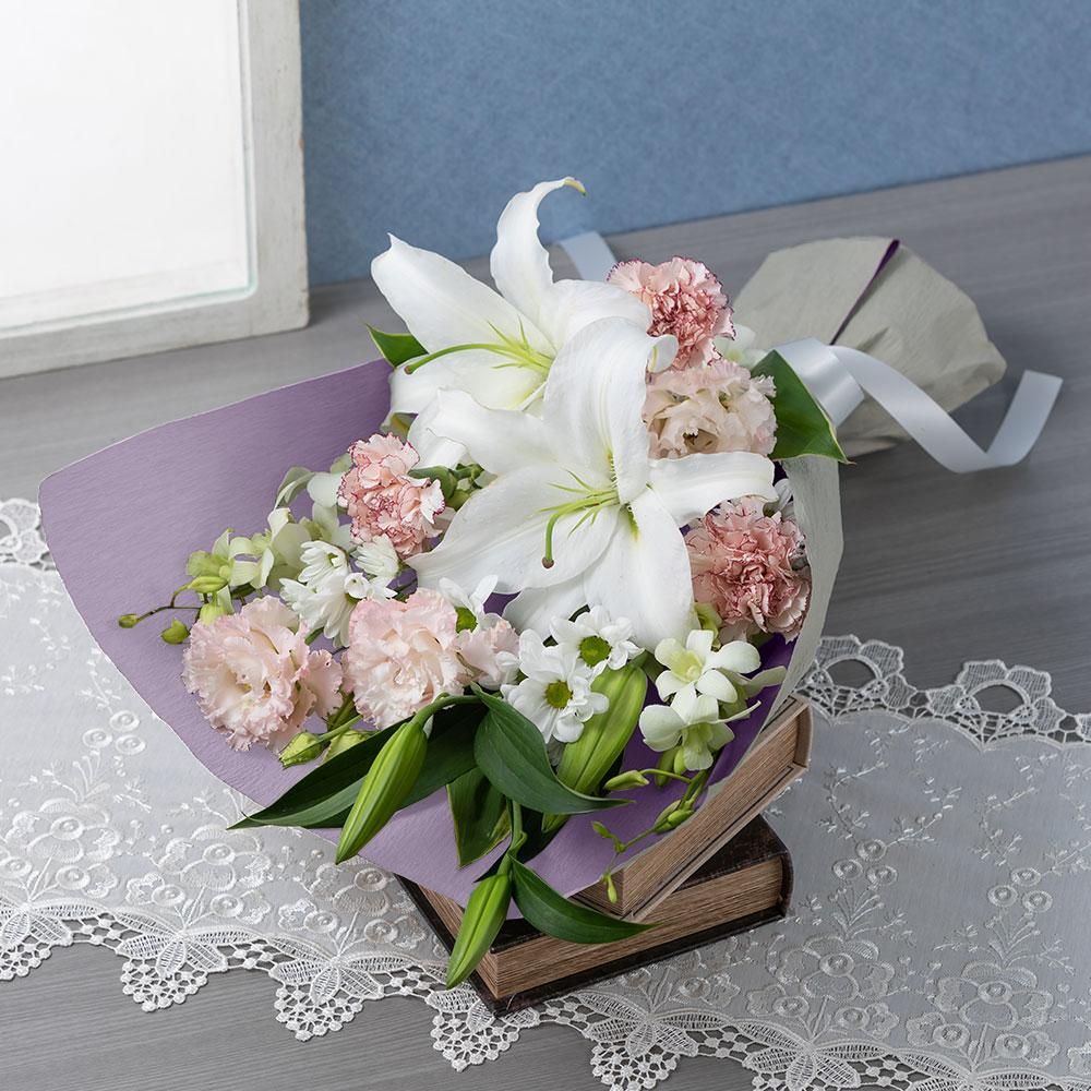 EX花束「懐旧の情(桜色重ね)」