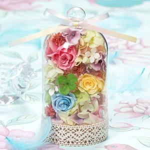 母の日 プリザーブドフラワー「幸運の虹色ドーム〜幸せでいて欲しい〜」