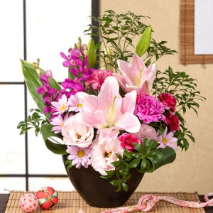 母の日 アレンジメント「皐月の唄〜和みの花飾り〜」