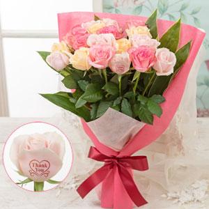 """母の日 花束「レター・ローズ""""Premium Rose"""" 〜バラに気持ちを託して〜」"""