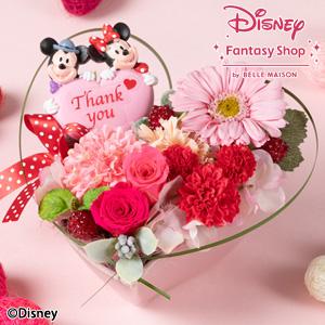 母の日 ディズニー プリザーブドフラワー「ハート トゥー ハート/ミッキーマウス&ミニーマウス」
