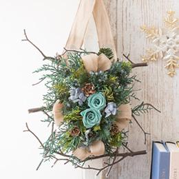 プリザーブド&ドライフラワー「ウォールデコ Nordic life〜森の壁飾り〜」