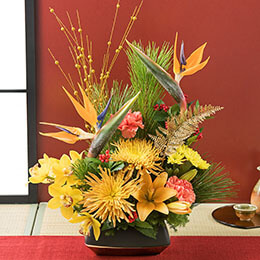 お正月 アレンジメント「鳥花の宴」