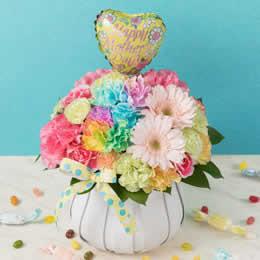 母の日 アレンジメント「Rainbow Flower〜お洒落なお母さんへ〜」