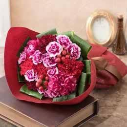 母の日 花束「Mother's red〜感謝を込めて〜」