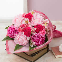 母の日 花束「芍薬美人」