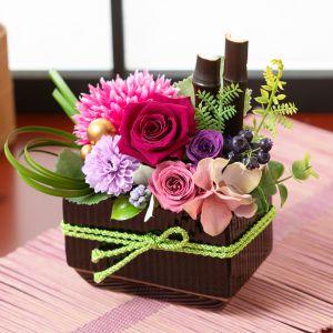 敬老の日 プリザーブドフラワー「紫織〜しおり〜」