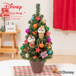 ディズニー/クリスマスツリーセット「わくわくクリスマス Chip&Dale」60cm