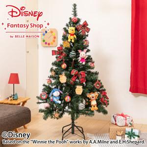 ディズニー/クリスマスツリーセット「100エーカーの森のクリスマス」150cm(LEDライト付き)