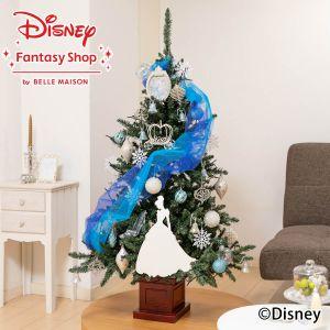 ディズニー/クリスマスツリーセット「プリンセスツリー〜Cinderella〜」150cm(LEDライト付き)
