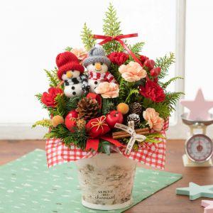 EXアレンジメント「雪だるまさんのクリスマスツリー」