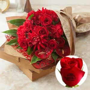 """花束「レター・ローズ"""" Winter Rose""""〜バラに気持ちを託して〜」"""