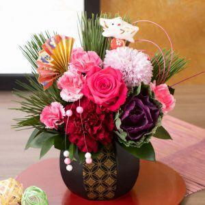 お正月 アレンジメント「彩花〜亥の春迎え〜」