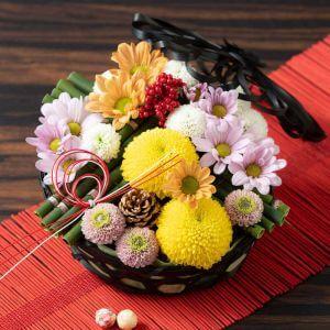 お正月 アレンジメント「華てまり〜菊づくし〜」