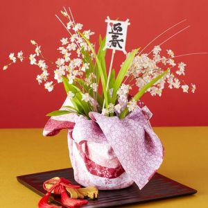 お正月 鉢植え「初春の慶び〜トゥインクル ピーチファンタジー〜」