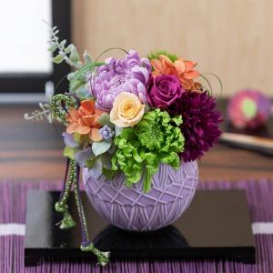母の日 プリザーブドフラワー「菊花てまり」