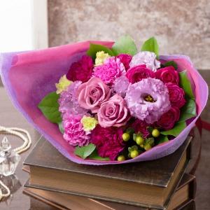 母の日 花束「エレガンス パープル ブーケ」