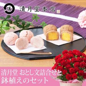 母の日 鉢植えセット「東京銀座 清月堂 おとし文詰合せ」