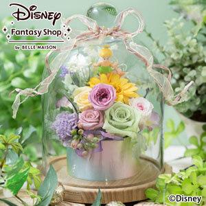 母の日 ディズニー プリザーブドフラワー「ガラスドーム/ティンカー・ベル」