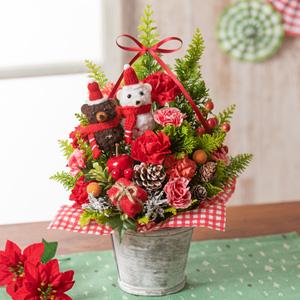 アレンジメント「くまさんのクリスマスツリー」