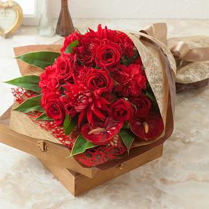 花束「Winter Rose〜バラに気持ちを託して〜」