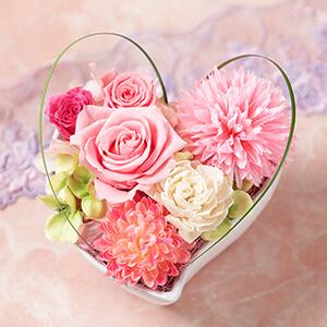 母の日 プリザーブドフラワー「サンクスハート〜Happy Mother's Day !〜」
