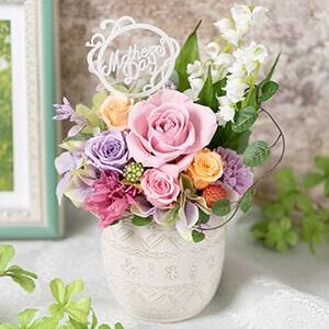 母の日 プリザーブドフラワー「ミュゲ〜すずらんの咲く庭〜」