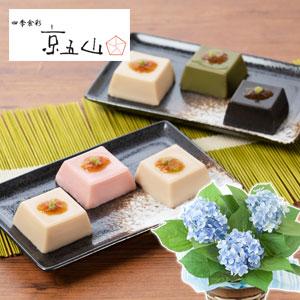 父の日 アジサイ鉢植えセット「京五山 ごま豆腐 彩(いろどり)」