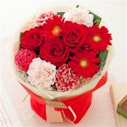 e87.com(千趣会イイハナ)【最速で翌日配送対応】花束「スタンドブーケ=Strawberry=」
