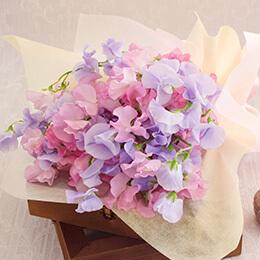 花束「エレガント スイートピーブーケ」