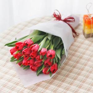 花束「本数が選べるチューリップ(レッド)」
