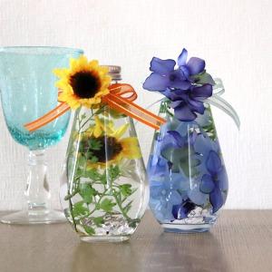 ハーバリウム「夏の思い出〜紫陽花と向日葵のペアギフト〜」