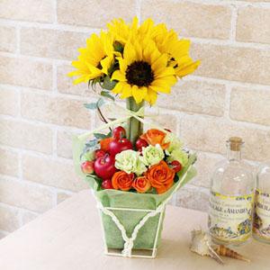 アレンジメント「Sunflower topiary 2019」