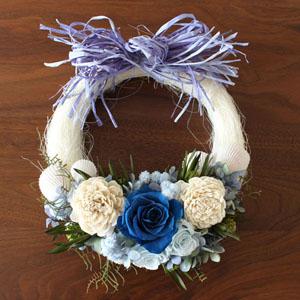ドライフラワー「Summer Sea Wreath」