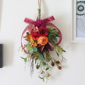EXプリザーブドフラワー「秋の実ものの壁飾り」
