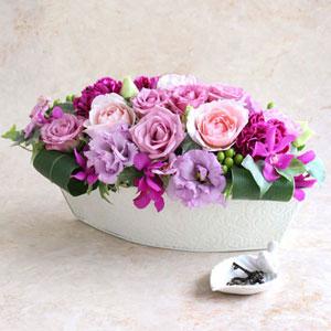 EXアレンジメント「紫(ゆかり)〜優雅な時間〜」