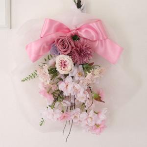 EXプリザーブドフラワー「お花見日和の壁飾り」