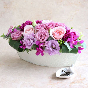EXアレンジメント「La rose violette・L」