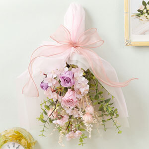 プリザーブドフラワー「SAKURA〜春色のスワッグ〜」