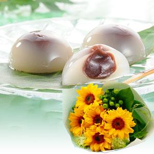 花束セット「つるや製菓 水まんじゅう」