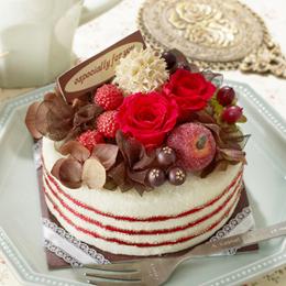 EXプリザーブドフラワー「Very!Berryミックスケーキ」