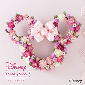 ディズニー/ドライフラワー「ミニーマウス ハートフルリース」