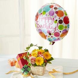 アレンジメント「ぷわぷわバルーン〜Happy Birthday〜」