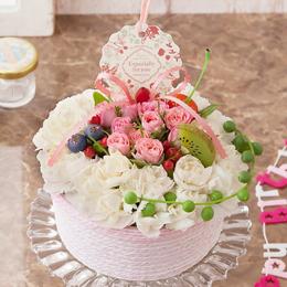 EXアレンジメント「フラワーケーキ〜Happy Anniversary〜」