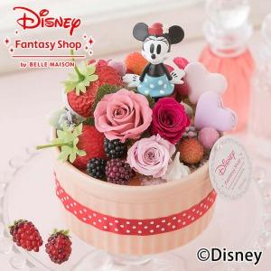 ディズニー プリザーブドフラワー「ハピネスcake〜ミニー〜」