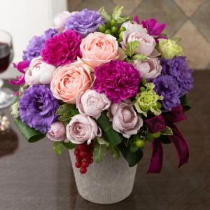アレンジメント「Vin rouge〜大人の花飾り〜」
