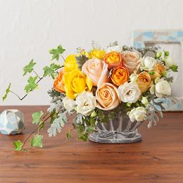 デザイナー阿川さんアレンジメント「Le jardin fleuri de roses〜バラの咲く庭〜」M