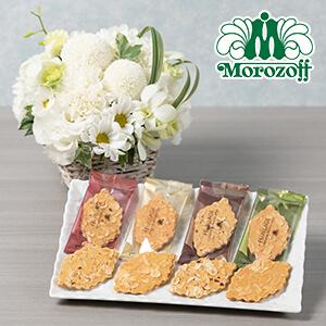 お供え花セット「モロゾフ ファヤージュ(白)」